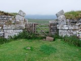 Milecastle 37 , detail  of  remaining  gate structure.