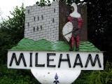 Mileham  village  sign , depicting  the  castle.