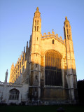 King's  College  chapel  catches  early  sunshine.