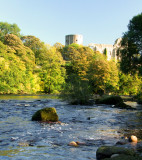 The  Castle  ruins  from  the  River  Tees.