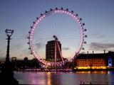 The  London  Eye ,just  before  dawn.