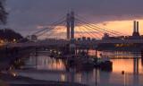 First  light  at  Albert  Bridge.
