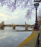 Battersea  Bridge  from  Chelsea  Embankment.