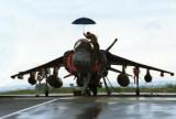 Harrier jump jet.