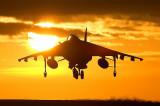 The  RAF  Harrier  jump  jet .