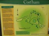 Corfham  Castle ,display board