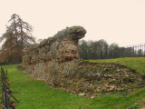 A  section  of  Verulamium  town  wall.