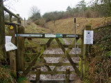Gate  leading  to  Wansdyke  on  Morgan's  Hill.