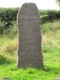 A  new-ish  gravestone.