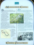 Montgomery  Castle, information  board.