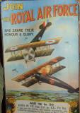 RAF recruitment poster from World War 1.
