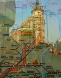 railway map and reflection