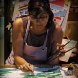 Eduarda manos pinceles