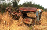 rusted tractor
