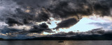 lake te anau sunset panorama (hdr)