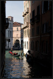 Gondola traffic jam