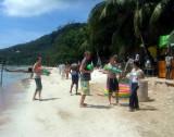 Songkran fun - Beach