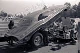 Bob Banning Dodge pit body up BW.jpg