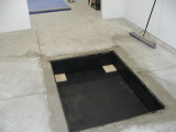 Cement work done and box put in place.JPG