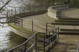 Observation deck on river - was under water