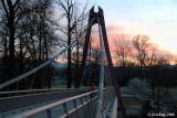 Defasio footbridge and morning sky