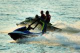 Aquabike riders enjoying the sun and sea