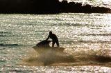 Aquabike on the Shallow Water Bay