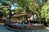 The San Domingo Cafe is a nice place to take a rest See the place