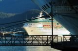Another ship visiting Juneau: Vision of the Seas