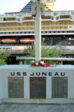 The memorial in memory of the light cruiser USS JUNEAU