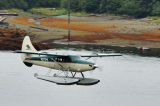 A seaplane is ready for landing