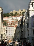 the Castelo de Sao Jorge above the city
