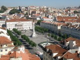 ... overlooking the Rossio