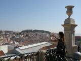 at the Miradouro de Sao Pedro de Alcantara, looking toward the Alfama