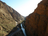 a view down the Dades gorge on our way back