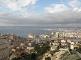 the port of Marseille seen from La Garde hill
