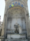 the only menorah in the cemetery