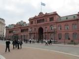 the Casa Rosada (Pink House)...