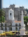 the Cabildo, seen from the Casa Rosada