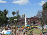 a view from the Cabildo balcony across the Plaza de Mayo
