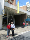 3522: Diana with husband Daniel in front of the GRUNHAUT business (one of four) in Cordoba