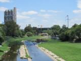 la Cañada, a waterway running thru the city
