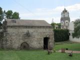 in the garden, a blacksmith's shop