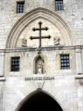 the Lorraine cross decorates the facade