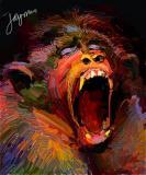 monkey-yawn
