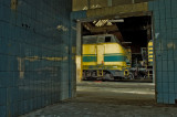 Diesel Train Depot, abandoned..