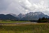 Ein Gewitter zieht auf über dem Karwendel