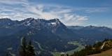 Blick von der Wank Ri. Alpspitz und Zugspitze