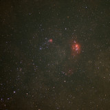 M-20 (left) the Trifid and M-8, the Lagoon Nebula