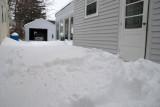 Driveway before shoveling